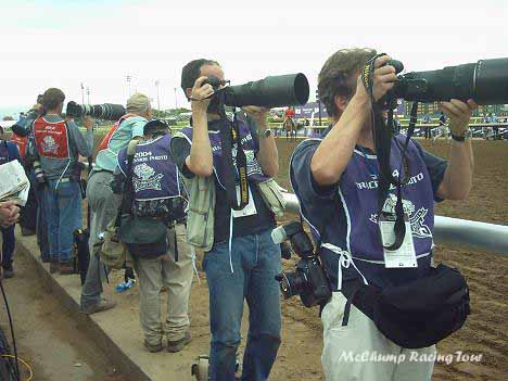 Photographers block the view
